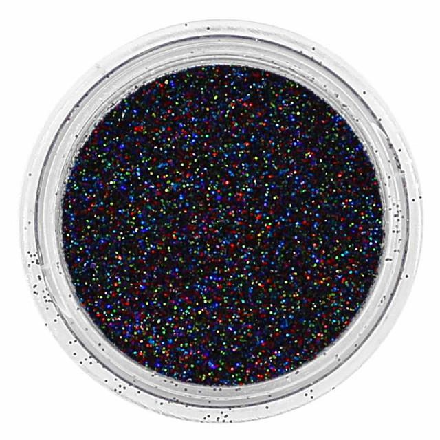 Glitter Extra Fino Preto Holográfico 15