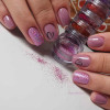 Unhas com glitter holográfico