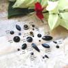Pedrarias pretas para unhas