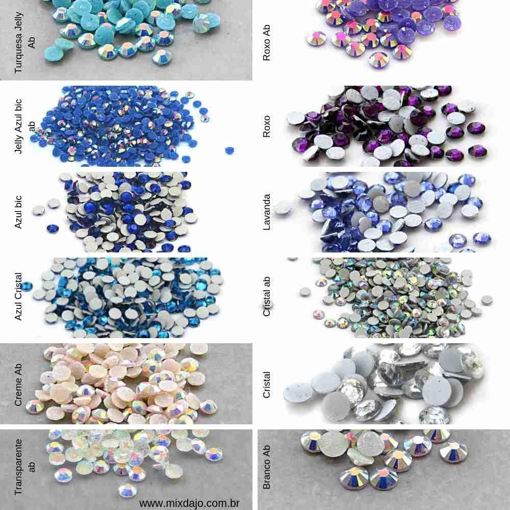 Catálogo de pedrarias para unhas